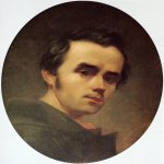Taras Hryhorovych Shevchenko (1814 - 1861)   Self-portrait  Canvas (oval), oil, Winter 1840 - 1841  43 × 35 см  State Shevchenko Museum, Kyiv, Ukraine